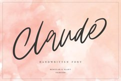 Claude Handwritten Font Product Image 1