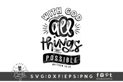 With God All Things Are Possible SVG | Bible Verse SVG Product Image 1