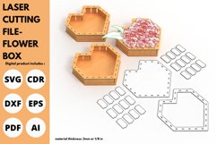 Flower Box- Laser cutting File Product Image 2