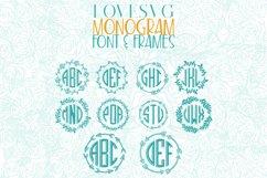 LoveSVG Monogram Font and Frames Product Image 3