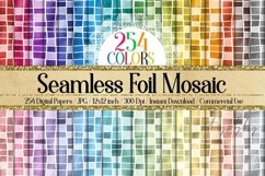 254 Seamless Metallic Foil Mosaic Digital Papers 12x12 inch Product Image 1