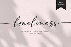 Loneliness Romantic script Product Image 1