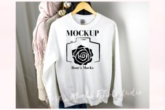 Gildan 18000 Sweatshirt Mockup White Product Image 1