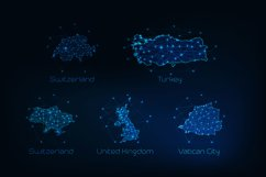Europe countries futuristic maps. Product Image 5