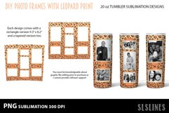 Skinny Tumbler Sublimation - Leopard Print Photo Frames Product Image 2