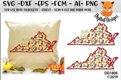 Virginia Autumn Fall Leaves Pattern SVG Product Image 1