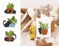 Black cat kids clipart Product Image 6