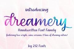 Dreamery Script and Sans Handwritten Feminine Font Trio Product Image 1