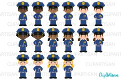 Cops Clipart, Police Officer Clip Art, Community Helpers Product Image 2