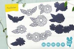 Flower svg, Flower Vector Cut File, Floral svg, Daisy svg Product Image 5