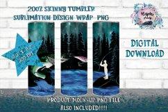 Outdoors|Fishing|20oz|Sublimation|Tumbler Design Product Image 1