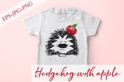 Hedgehog with apple. JPG, PNG, EPS Product Image 1