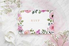 Blush pink floral Frame Frames Borders PNG Rose Gold Clipart Product Image 5