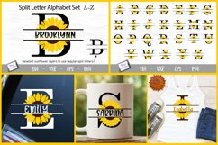 Sunflower Split Letters A-Z - 26 Split Monogram SVG files Product Image 3