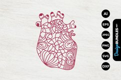 Floral Heart Papercut Product Image 1