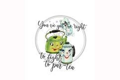 Funny Tea Pun, Tea Pots, Par-Tea Food Pun Sublimation Product Image 1