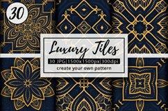 Luxury Mandala Pattern Tiles | Golden arabesque background Product Image 1