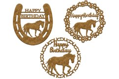 Horse and unicorn Birthday 3 svg cut files Product Image 2