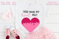 Heart Melt SVG, Valentine's cut file, Love svg Product Image 5