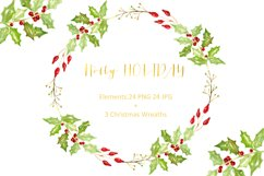 Christmas watercolor clipart bundle Product Image 3