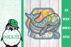 Whale SVG layered multi layer mandala sea animal nautical Product Image 11