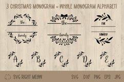 Family Monogram Bundle, Last Name Wreath Monogram Product Image 1
