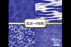 Blue Forms - 10 Digital Papers/Backgrounds Product Image 4