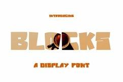 Web Font Blocks - Display Font Product Image 1