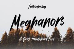 Meghanors - Quick Handlettered Font Product Image 1