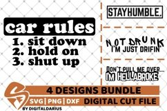 4x Car Rules Designs Bundle svg, Camping svg, Tunning, Drift Product Image 1