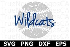 Wildcats Grunge Baseball - A Sports SVG Cut File Product Image 2
