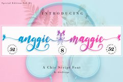 Anggie & Maggie // Modern Script Product Image 1