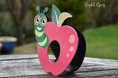 Apple egg holder design, Caterpillar / Teacher SVG / DXF Product Image 3