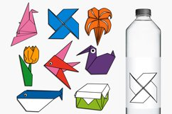 Paper Art Origami Clip Art Illustrations Product Image 1