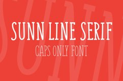 SUNN Serif Line Caps Only Font Product Image 1