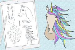 Unicorn procreate stamp brushes Product Image 3
