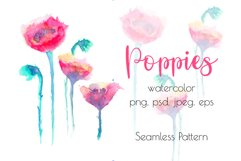 Watercolor poppies Product Image 1