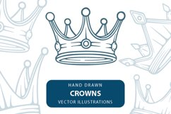 Crown hand drawn vector illustrations set. Product Image 1