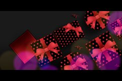 3d and Shiny Gift Boxing Day Background Graphic Product Image 2