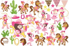 Cowgirl clipart, graphics, illustrations AMB-159 Product Image 6