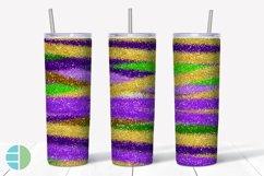 Skinny Tumbler Sublimation Design - Mardi Gras Glitter Product Image 3
