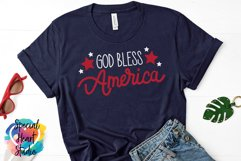 God Bless America - A hand lettered patriotic SVG Product Image 1