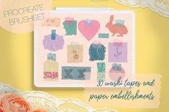 Washi Tapes and Paper Embellishments Procreate Brushes Product Image 1