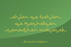 Selamet Lebaran - Arabic Fauxlang Font // Web Font Product Image 4
