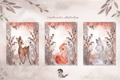 Wonderforest. Watercolor hand draw Product Image 5