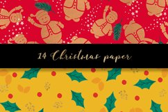 Christmas digital paper pattern Product Image 2