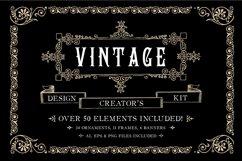 Vintage Ornament Design Creators Kit - AI EPS PNG Product Image 1