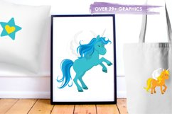 Unicorns and Rainbows graphics and illustrations Product Image 5