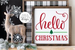 Hello Christmas SVG | Winter Sign | DXF and More Product Image 3