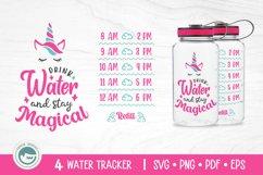 Unicorn / Mermaid / Fairy / Cat / Water Tracker SVG Cut File Product Image 5